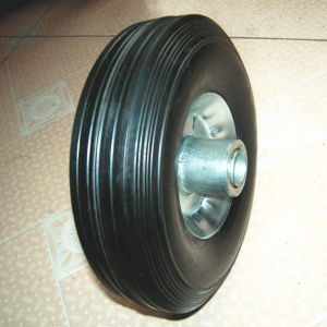 Steel Rim or Plastic Rim Black Rubber Solid Wheel pictures & photos