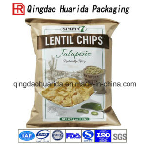 Laminated Transparent Plastic Food Packaging Zipper Bag for Cheese/Popcorn pictures & photos