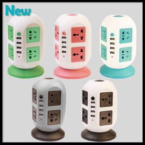 Universal Power Socket Strip 8 Outlets with Circuit Breaker Home/ Office Over Current Protector