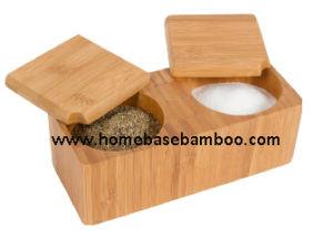 Bamboo Salt & Pepper Caddy Holder Kichenware Kitchentool pictures & photos