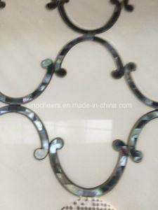 Thassos White Mix Shell Wholesale Waterjet Marble Tile pictures & photos