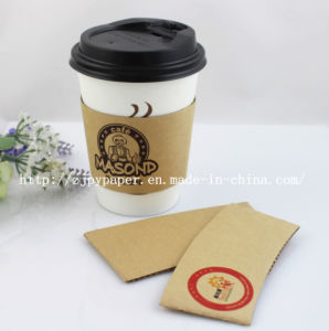 Coffee Specialized Single Wall Cup with Sleeve (England Market) -Swpc-59 pictures & photos