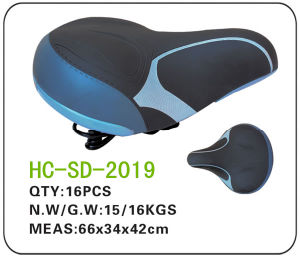 Leather Electric Bicycle Saddle (SD-2019) pictures & photos