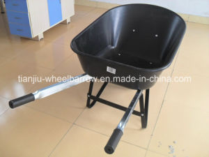 Plastic Tray Wheelbarrow (WB7801) with Steel Squar Handle pictures & photos