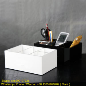 White Customized Size Acrylic / Plexiglass Multi-Purpose Storage Box pictures & photos