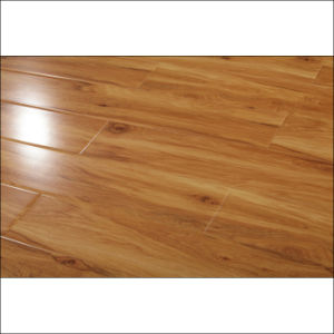 New Design Painting High Gloss Laminate Flooring with V-Groove pictures & photos