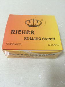 OEM Brand Natural Arabic Gum Smoking Rolling Paper with Delivery pictures & photos