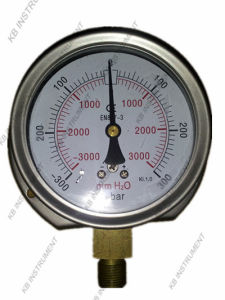 "4"" Stainless Steel Dry Capsule Pressure Gauge Manometer pictures & photos"