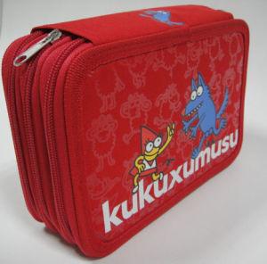 Polyester Cartoon Kukuxumusu Colourful Pencil Case