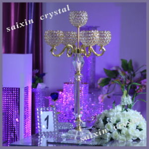 Chic 5 Arms Ball Crystal Candelabra for Wedding Accesories