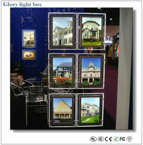 A4 Hanging Acrylic Crystal LED Panel Light Box pictures & photos