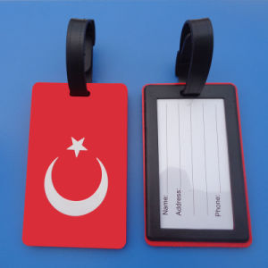 Turkey Country Flag Soft PVC Luggage Tag pictures & photos