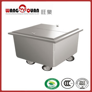 China Supplier Restaurant Stainless Steel Cart (Specialized for Flour) pictures & photos