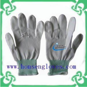 White and Cheap PU Gloves of Work Gloves