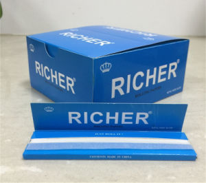 Custom King Size Premium Ultra Thin Fine 100% Natural Gum Slow Burning Rolling Paper pictures & photos