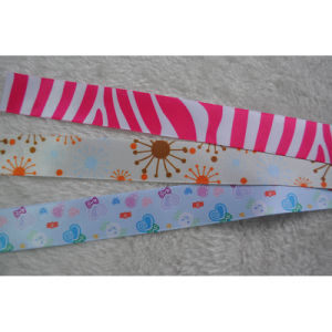 5mm-75mm Woven Tape Colorful Printed Grosgrain Ribbon for Gift/Flower Wrap pictures & photos