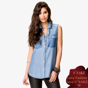 Fashion Ladies Jeans Casual Shirt (S307010)