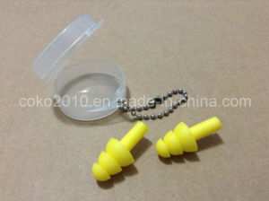 Round Box Key Chain Silicon Earplugs pictures & photos