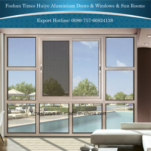 Modern Design Aluminium Sliding Window with Fly Screen pictures & photos