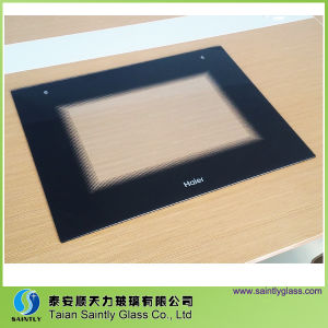 Float Glass Material Flat Tempered Glass Oven Door Glass with Silk Screen Printing pictures & photos