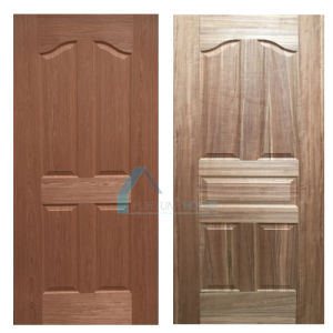 Natural Thailand Teak/Chreey Veneer Mould HDF Door Skin pictures & photos