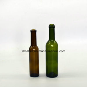 200ml Antique Green Bordeaux Cork Top Glass Wine Bottles pictures & photos