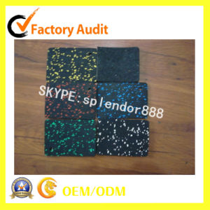Colorful EPDM Flecks Rubber Gym Fitness Sports Court Flooring Mat pictures & photos
