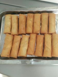 Flat Rectangle Frozen Vegetable 15g/Piece Egg Rolls with HACCP Certification pictures & photos
