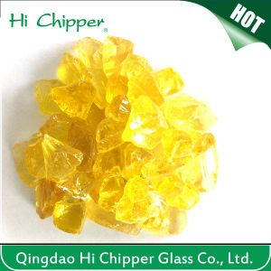 Crushed Yellow Glass Chips pictures & photos