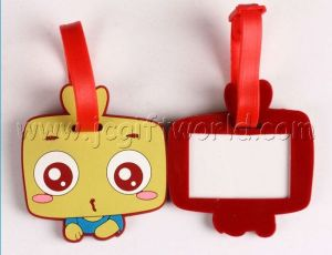 Custom Promotion Soft PVC Rubber Luggage/Bag Name Tag