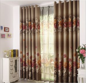 European Style Curtain One Side Print Curtain (MM-133) pictures & photos
