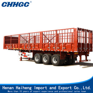 3 Axle Single or Double Tyre Fence Cargo Semi Trailer pictures & photos