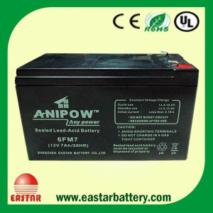 China Factory 12V 7ah AGM Technology Gel SLA Lead Acid Battery pictures & photos