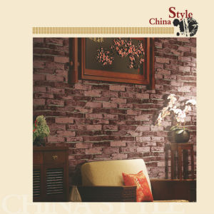 China Style PVC Project Wallpaper with Brick Patterns pictures & photos