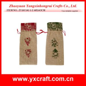 Christmas Decoration (ZY14Y41-3-4) Christmas Wine Bag Wholesale Xmas Gift Holiday Decoration pictures & photos
