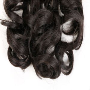 Hot Sale Synthetic Horsetail Wig Cheap Long Brown Curly Ponytail Hair Wigs 18 Inch Curl Horsetail Wigs pictures & photos