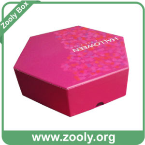 Printed Hexagon Rigid Cardboard Paper Gift Box (ZG002) pictures & photos