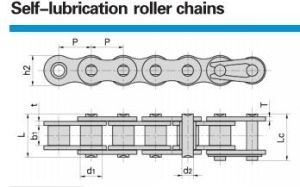 Self Lubrication Roller Chains 08bsl/40SLR/ pictures & photos