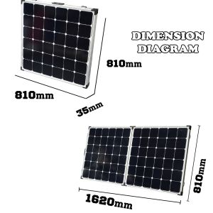 180W Portable Solar Panel System for Camping with Motorhome pictures & photos