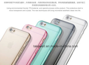 China Wholesale Mobile Phone Accessories Clear Colorful TPU Cell Phone Case for iPhone 6 pictures & photos