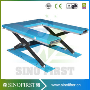 2ton High Quality Static Scissor Lift Platform for Pallet Lifting Cargo pictures & photos