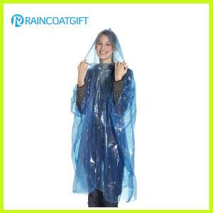 Cheap Blue PE Disposable Rainwear pictures & photos