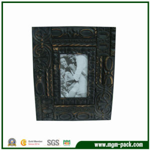 Luxury Bossed Black Rectangle Wooden Craft Picture Frame pictures & photos