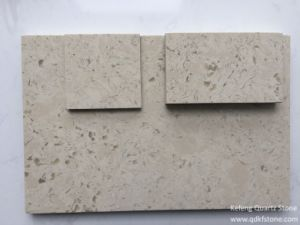 Brazil Hot Marble Color Quartz Stone Stepping Tiles and Wall Quartztile