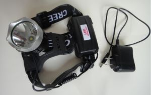 Super Bright CREE T6 LED Rechargeable Head Lamp/LED Headlamp/LED Headlight pictures & photos
