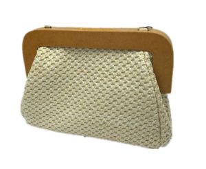 Wood and Woven Fashion Clutch Chain Bag pictures & photos