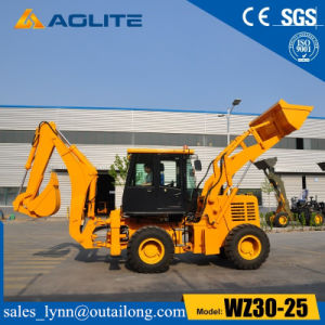 Auto Hydraulic Factory Wholesale Backhoe Loader with Low Price pictures & photos
