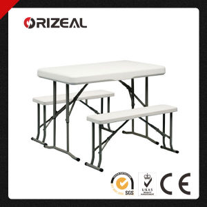 Orizeal Plastic Folding Picnic Table Bench Oz-T2034 pictures & photos
