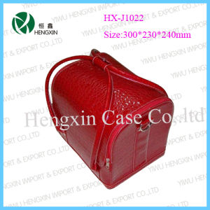 Leather Cosmetic Jewellry Nail Beauty Case (HX-J1022) pictures & photos