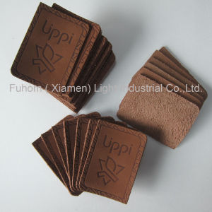 Real Cow Leather Patch / Cow Leather Label for Garment pictures & photos